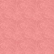 Lewis & Irene Island Girl - 5311 - Traditional Polynesian Scroll in Coral - A194.2 - Cotton Fabric